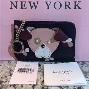 NWT Authentic Kate Spade medium L -Zip Card holder